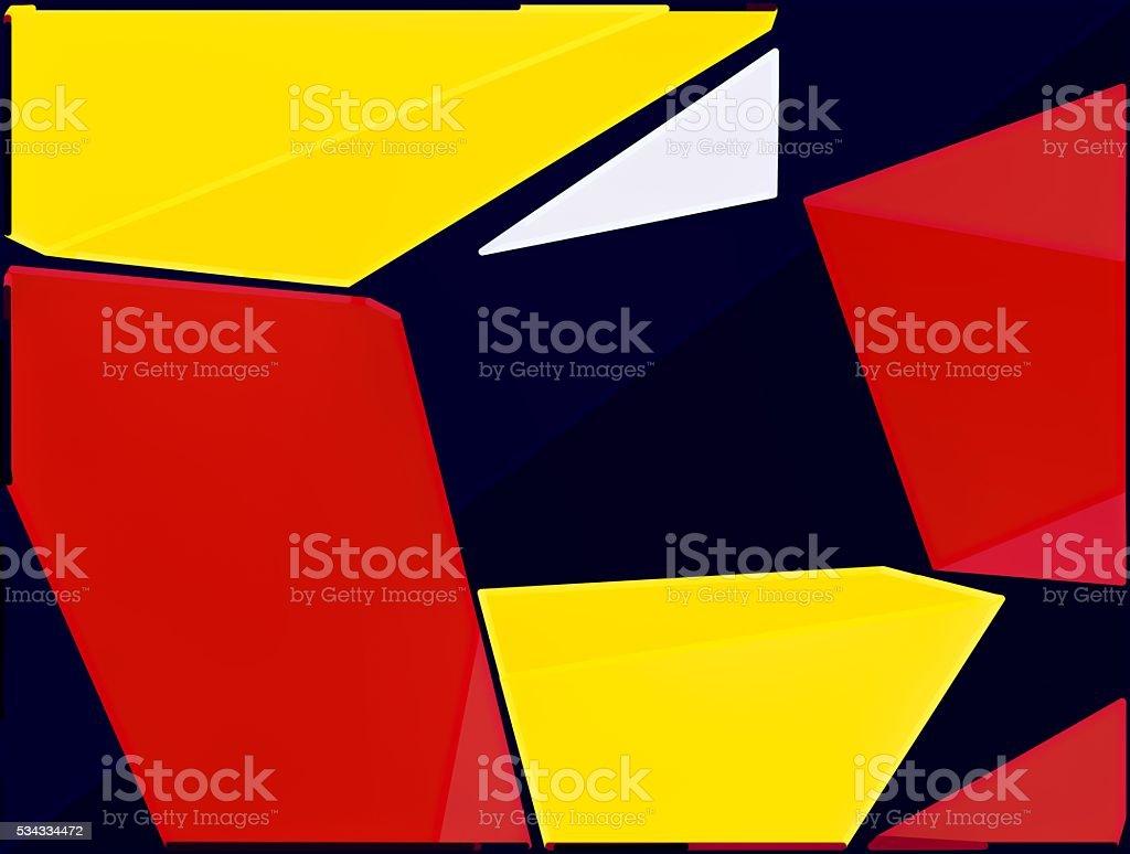 Rosso Giallo E Nero Dipinto Sfondo Astratto Fotografie Stock E