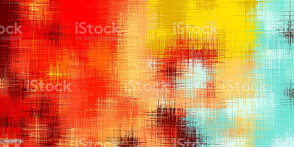 red yellow and blue painting abstract stock photo