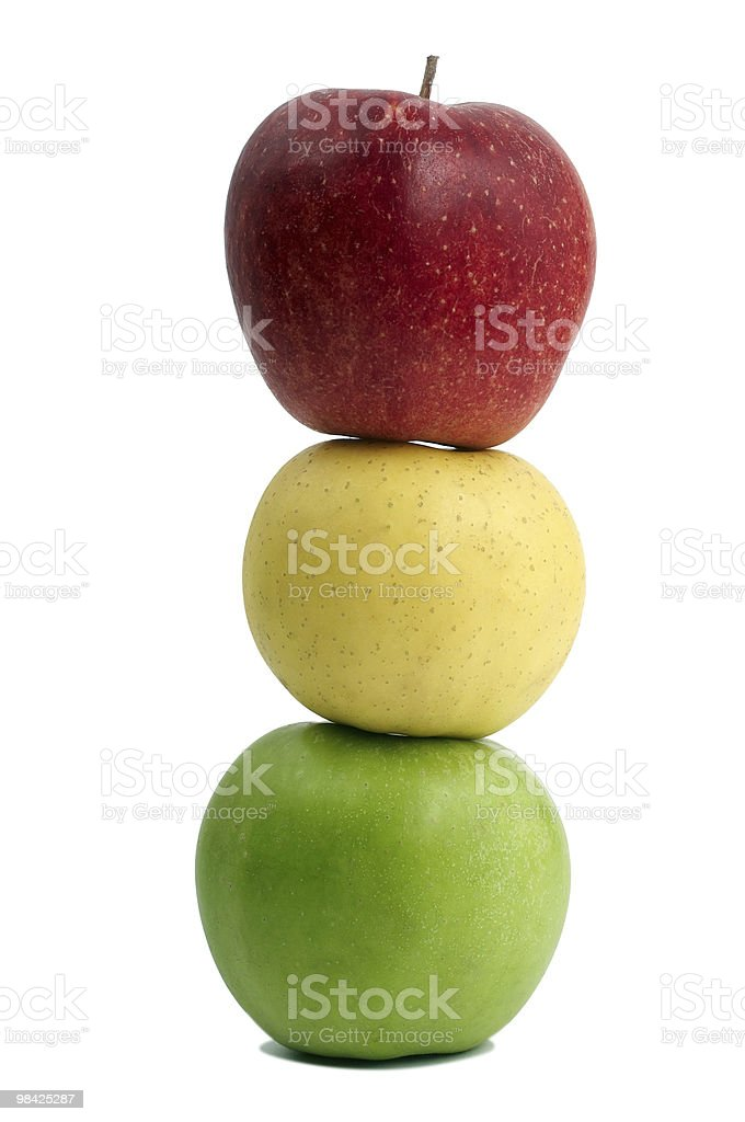 red yellow and green apples royalty-free stock photo