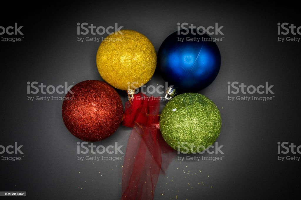 Christmas vibrant colorful wallpaper background texture of balls and...
