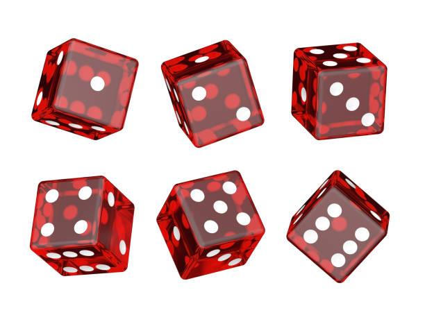 red you say - gioco dei dadi foto e immagini stock