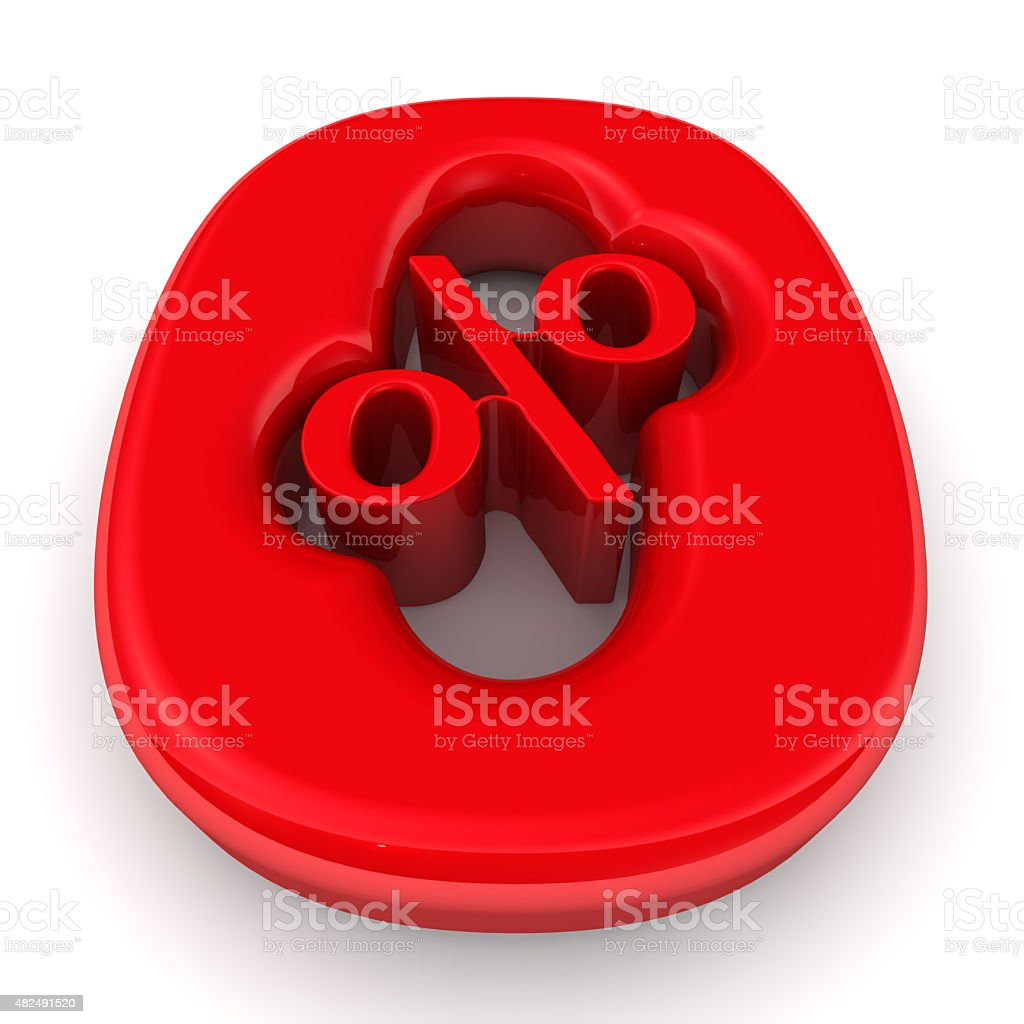 Red zero Percent stock photo