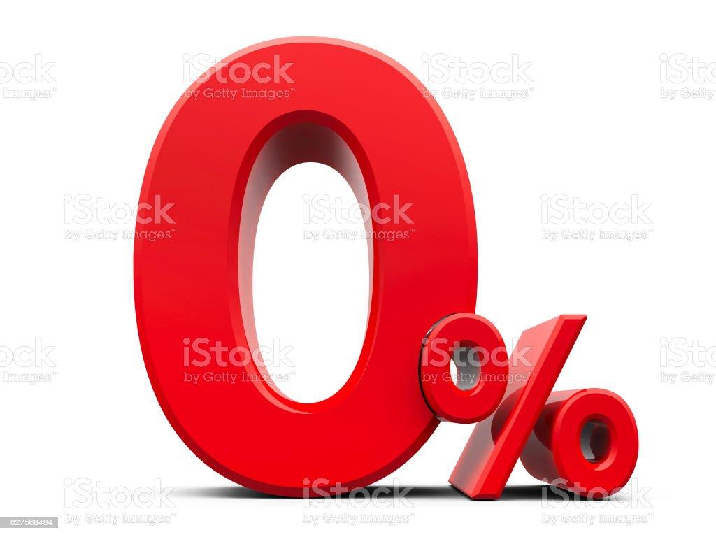 Red Zero Percent #5 stock photo