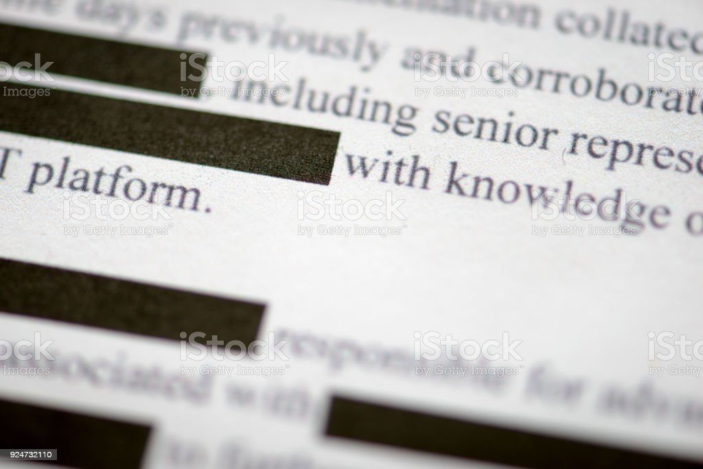 Redacted Document royalty-free stock photo