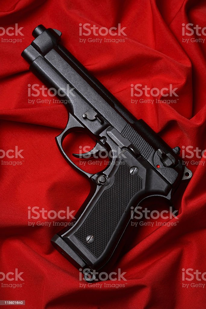 Red&Pistol royalty-free stock photo