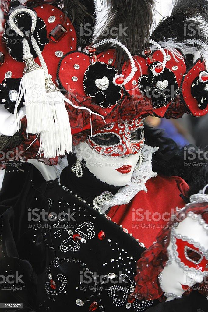 Red-black-white carnival garment royalty-free stock photo