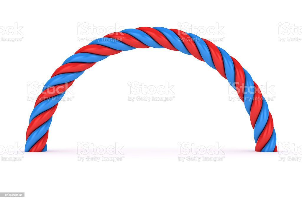 Red-blue spiral royalty-free stock photo