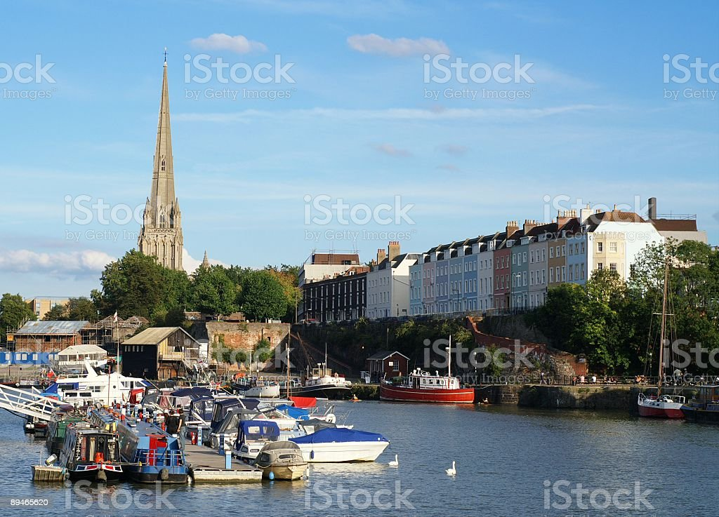 Redcliffe, Bristol Harbour royalty-free stock photo