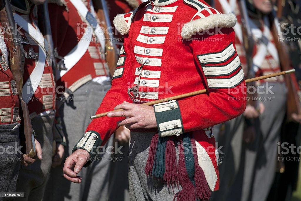 Redcoat Sergeant Inspektion seiner Herren – Foto