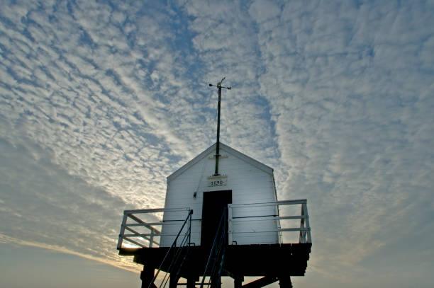 'Reddingshuisje' safe house Vlieland, the Netherlands stock photo
