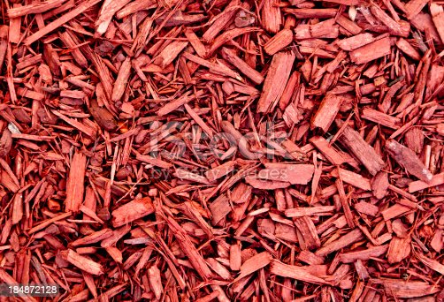 Ground cover of reddish brown bark.