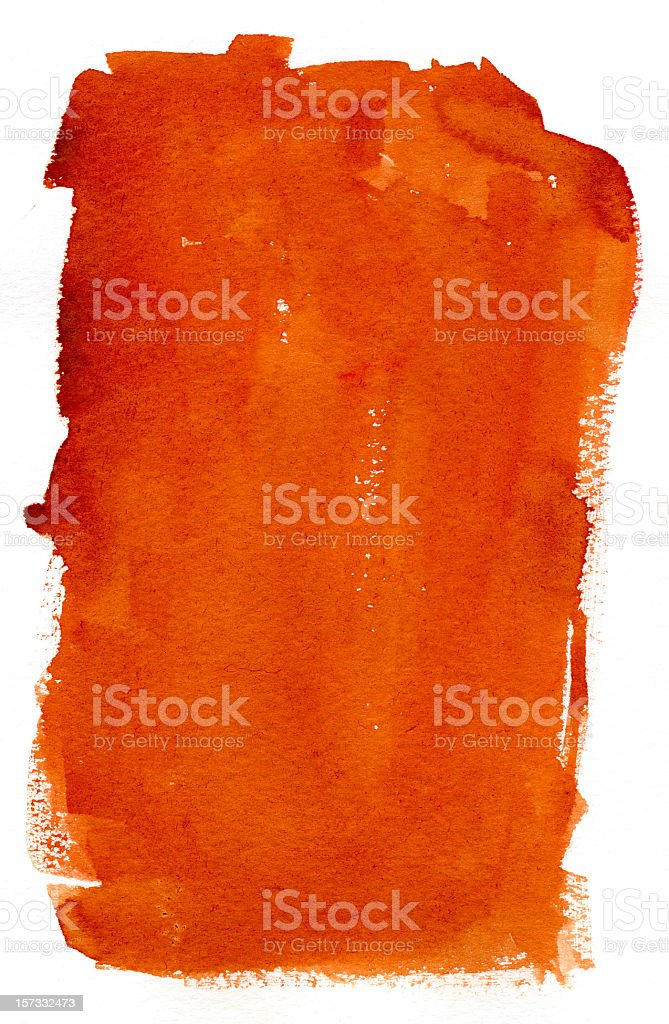Reddish brown paint smeared between a white frame royalty-free stock photo