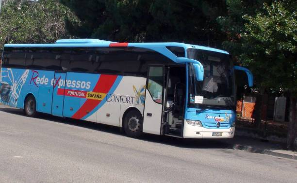rede expresso bus at lisbon oriente bus station. portugal europe - resultados lisboa imagens e fotografias de stock