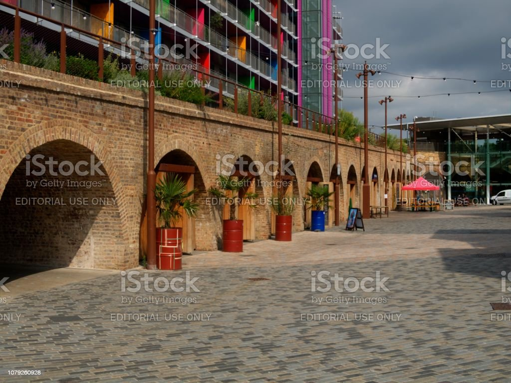 Redeveloped Deptford Station Carriage Ramp, London United, Kingdom stock photo