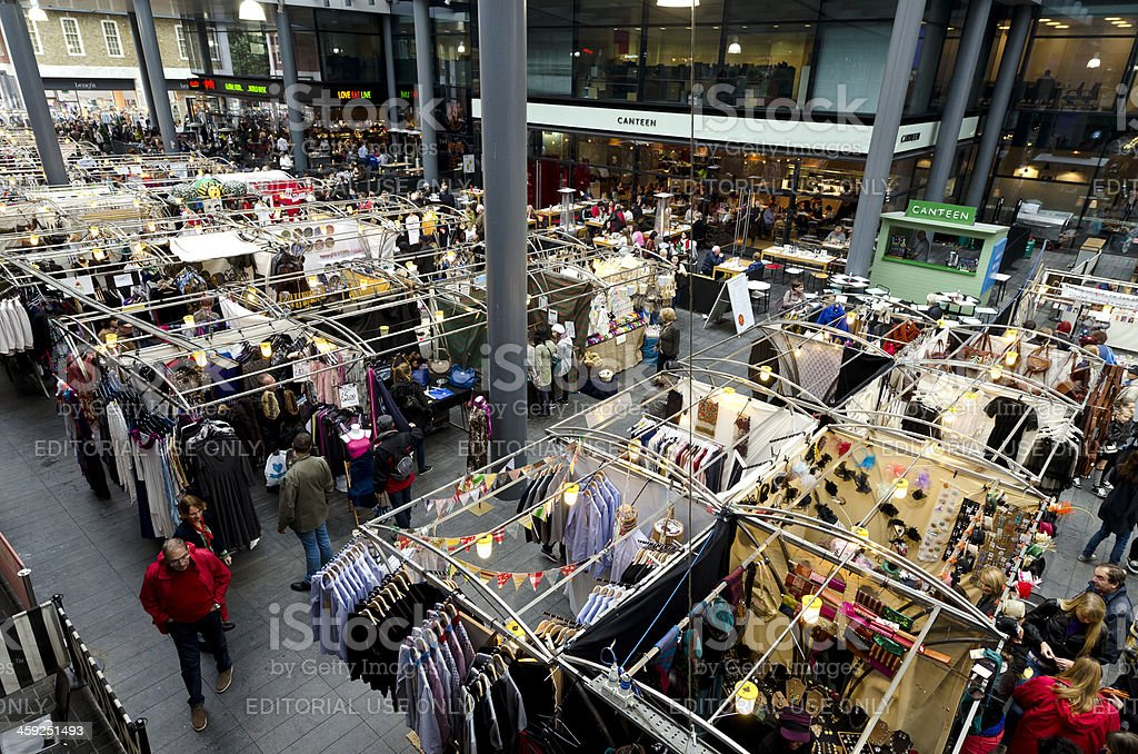 Redeveloped Spitalfields Market, East End of London royalty-free stock photo