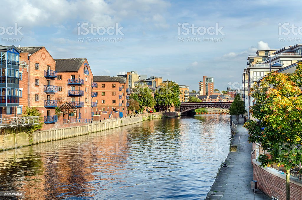 Redeveloped Warehouses stock photo