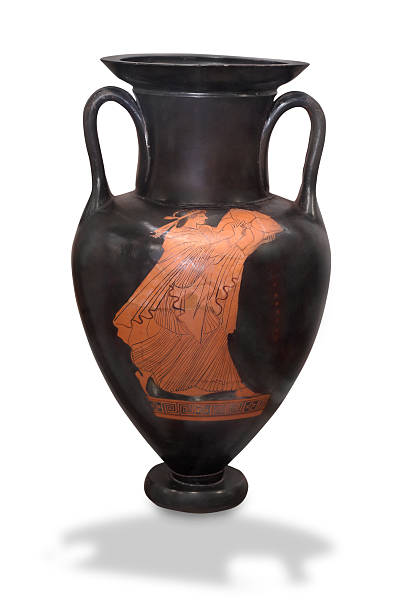 Red-figured Neck-amphora stock photo
