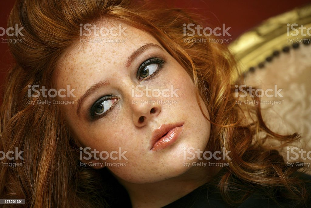 Redhair portrait royalty-free stock photo