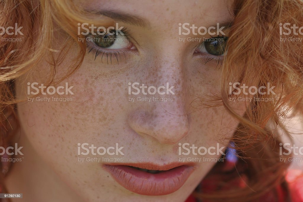 red-haired girl royalty-free stock photo