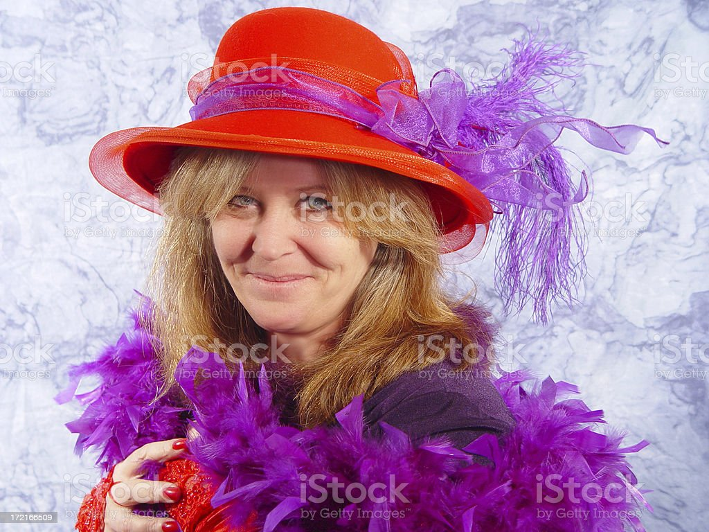 RedHat Series - glamour girl royalty-free stock photo