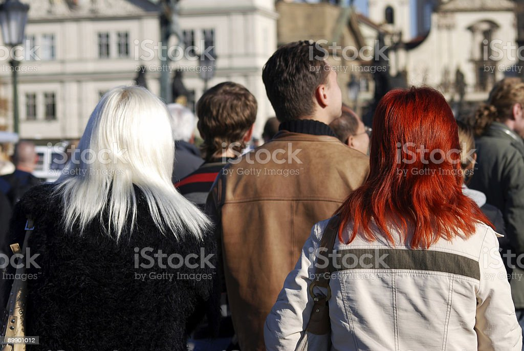 redhead and friend royalty-free stock photo