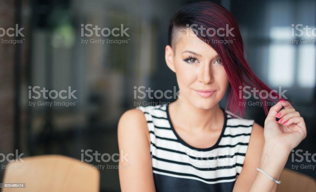 Redhead Beauty Portrait stock photo