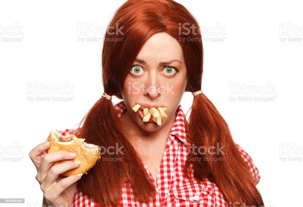 Redhead Chow Hound royalty-free stock photo