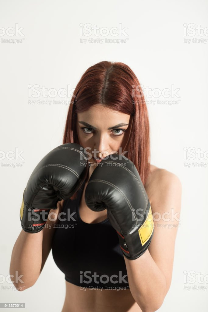 Redhead boxing video
