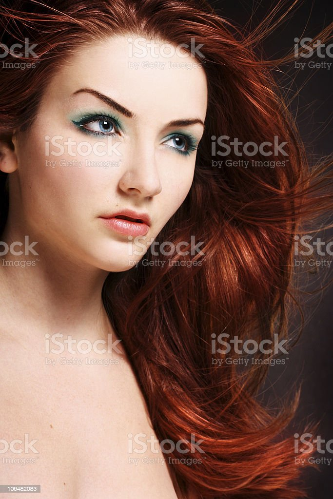 Redhead stock photo