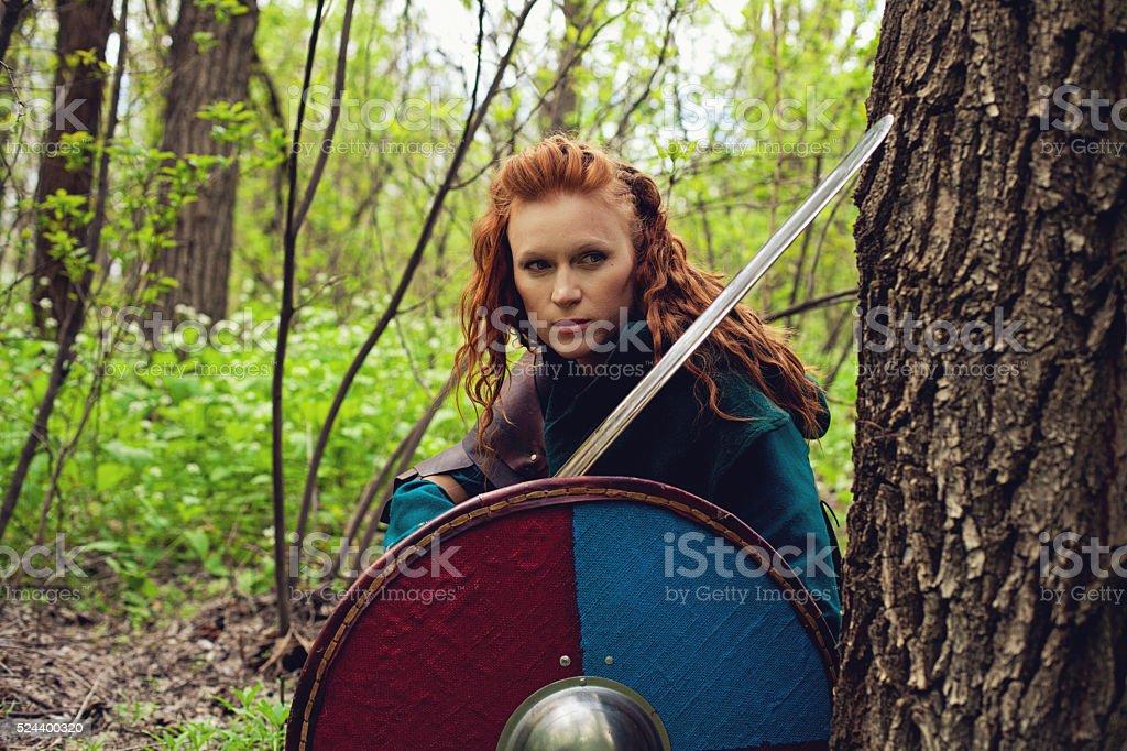Redhead scandinavian woman stock photo