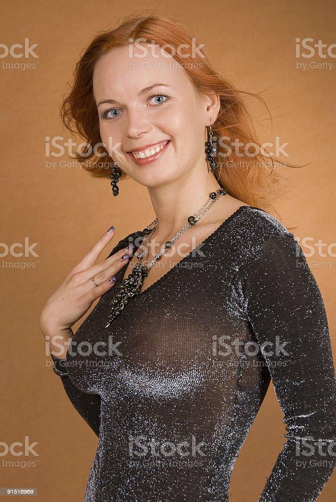 Redhead woman royalty-free stock photo