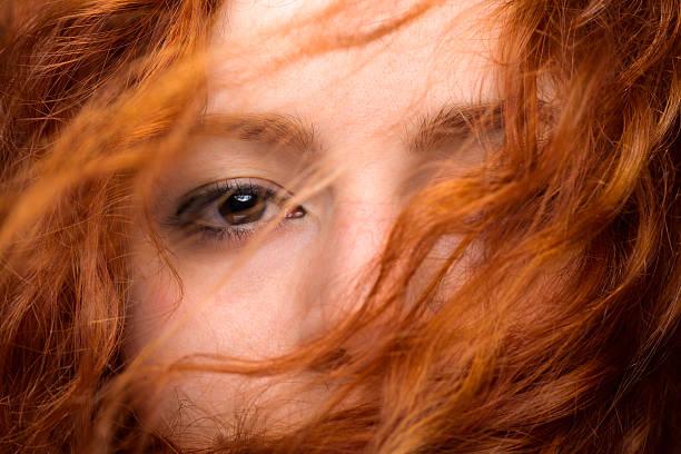 Redhead Woman's Eye stock photo