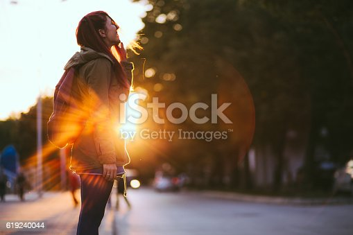 istock Redheaded Beauty in Sunset 619240044
