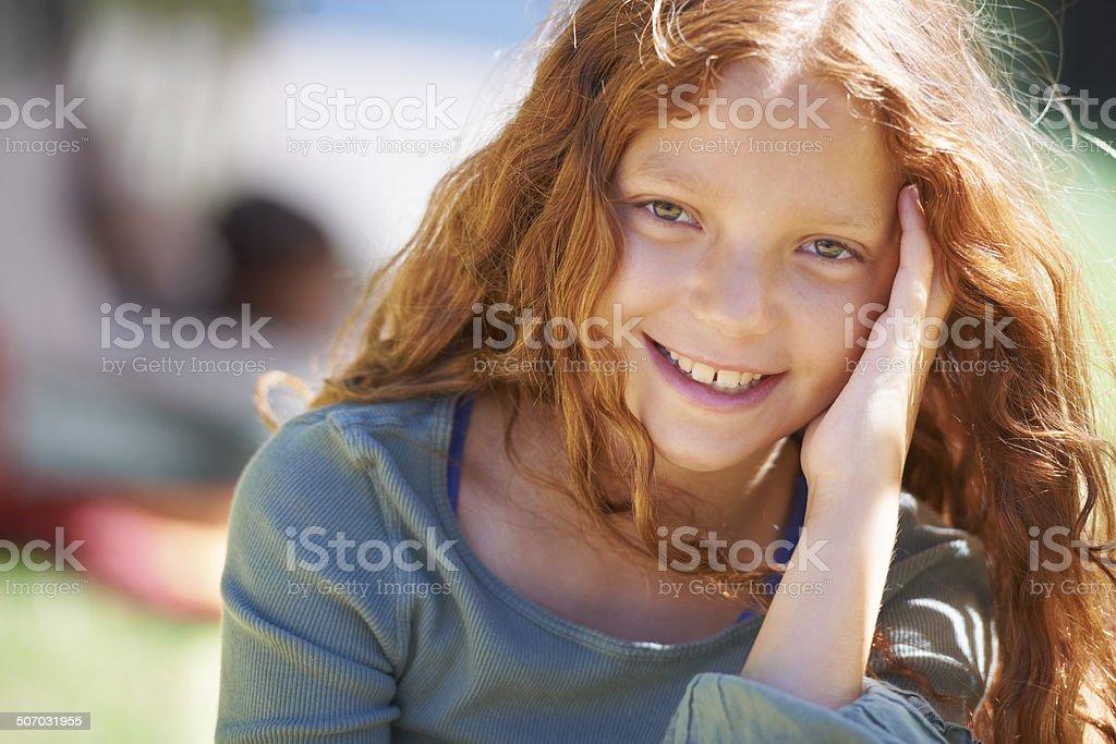 Redheaded cutey stock photo