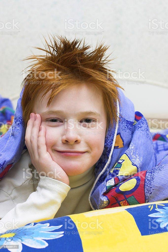 redheaded happy boy royalty free stockfoto