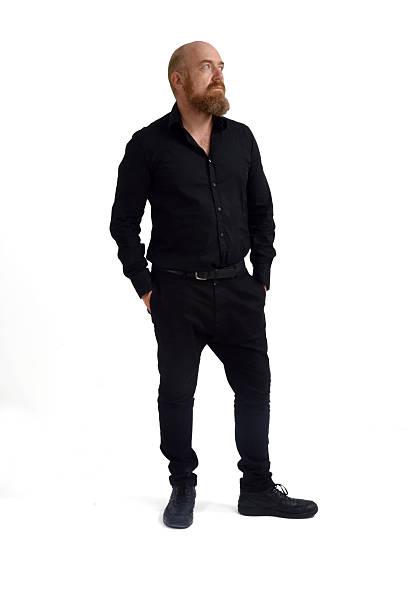 redheaded man isolated with white background, - hipster unterwäsche stock-fotos und bilder