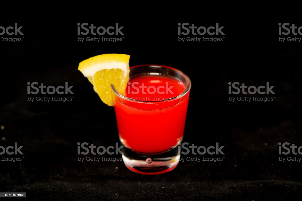 Redheaded Slut Cocktail With Jagermeister Cranberry Juice And