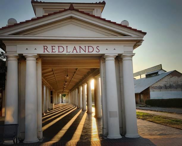 Redlands, California Train Station Railroad station redlands california stock pictures, royalty-free photos & images
