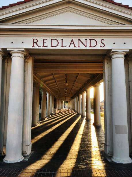 Redlands Train Station Magic hour redlands california stock pictures, royalty-free photos & images