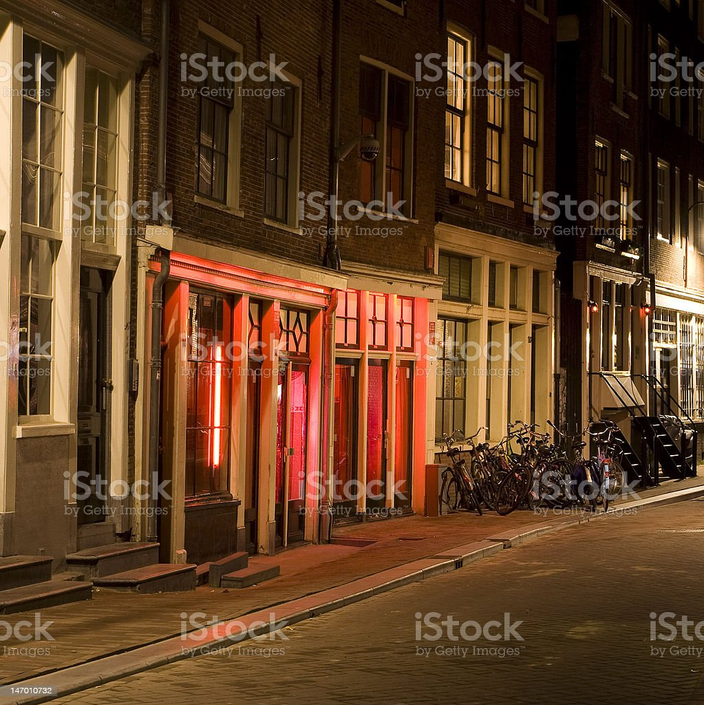Red-light District, Amsterdam, the Netherlands stock photo