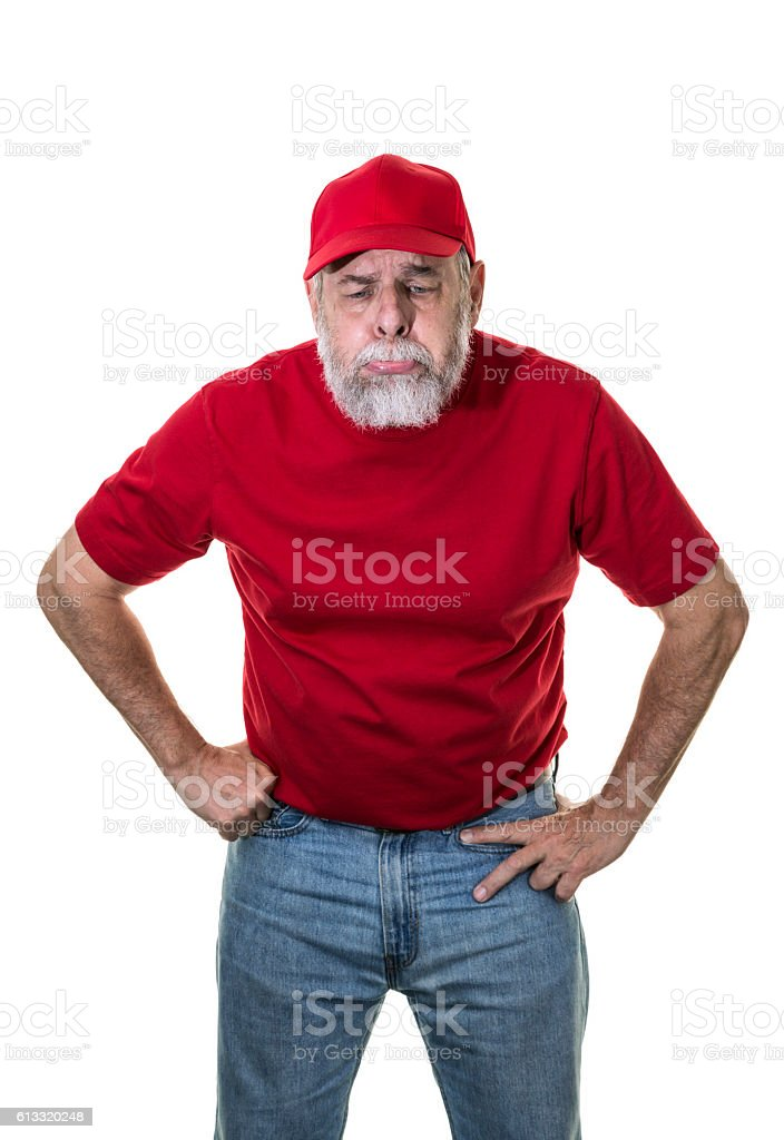 Redneck Hillbilly USA National Election Loser Sulking Pouting and Crying stock photo