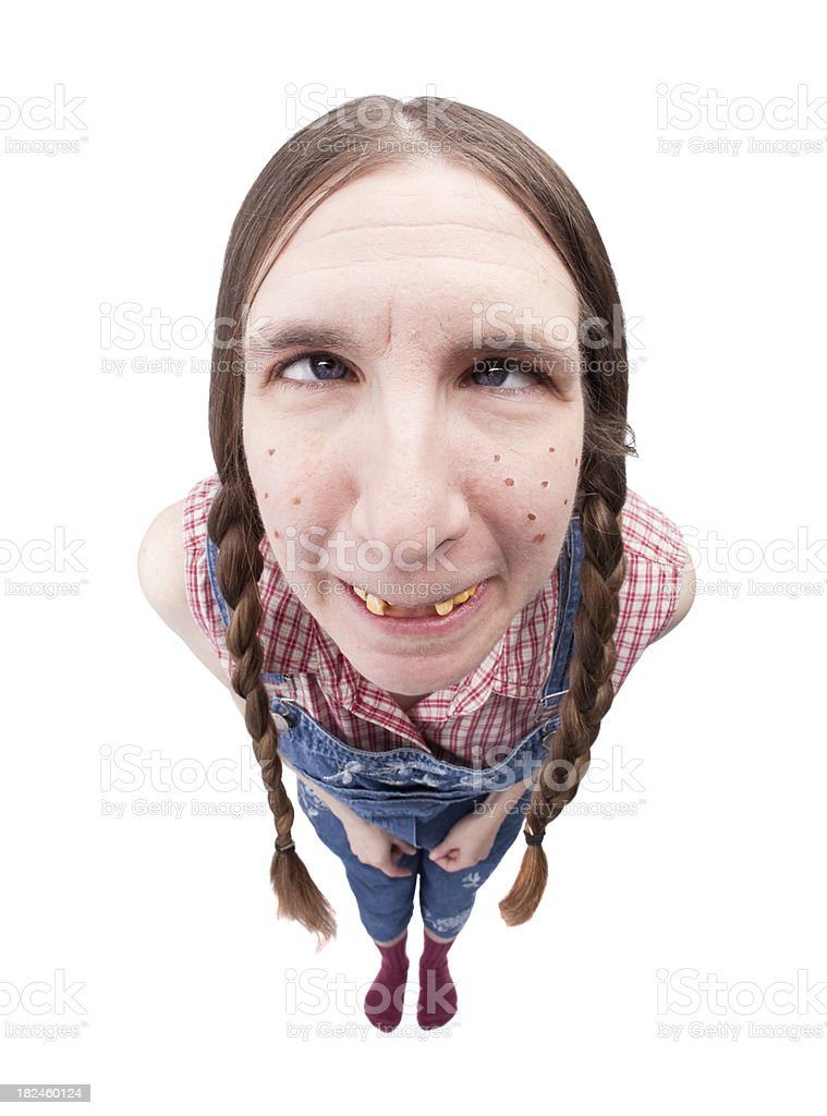 Redneck Woman Crossing Eyes royalty-free stock photo
