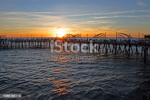 sunset at Redondo Beach pier
