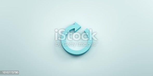 istock Redo Arrow. 3D render illustration 1010773790