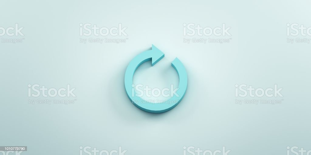 Redo Arrow. 3D render illustration stock photo