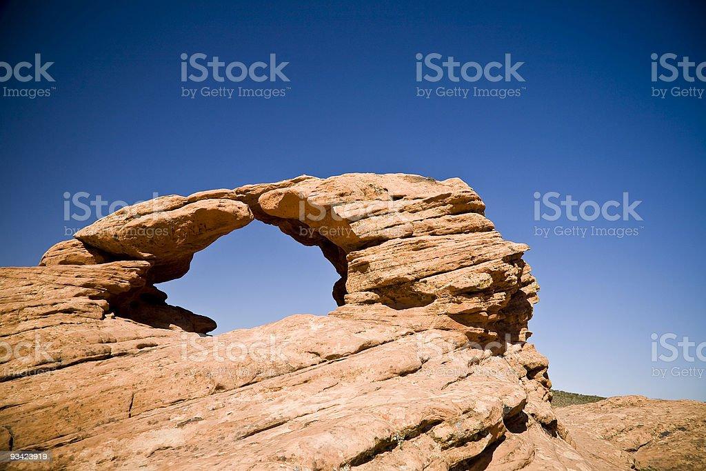 redrocks stone arch royalty-free stock photo