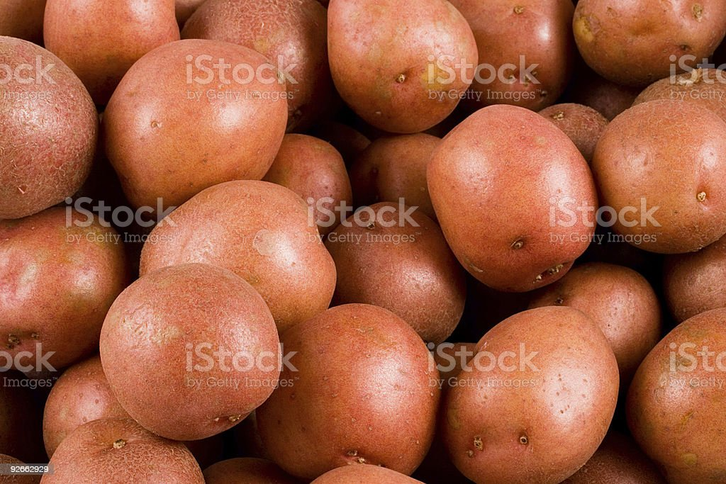 Red-skinned potatoes stock photo