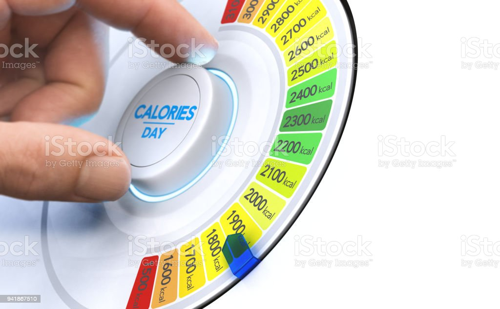 Reduce Calories, Nutrition and Balanced Diet Concept stock photo