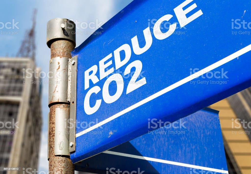 Reduce CO2 stock photo