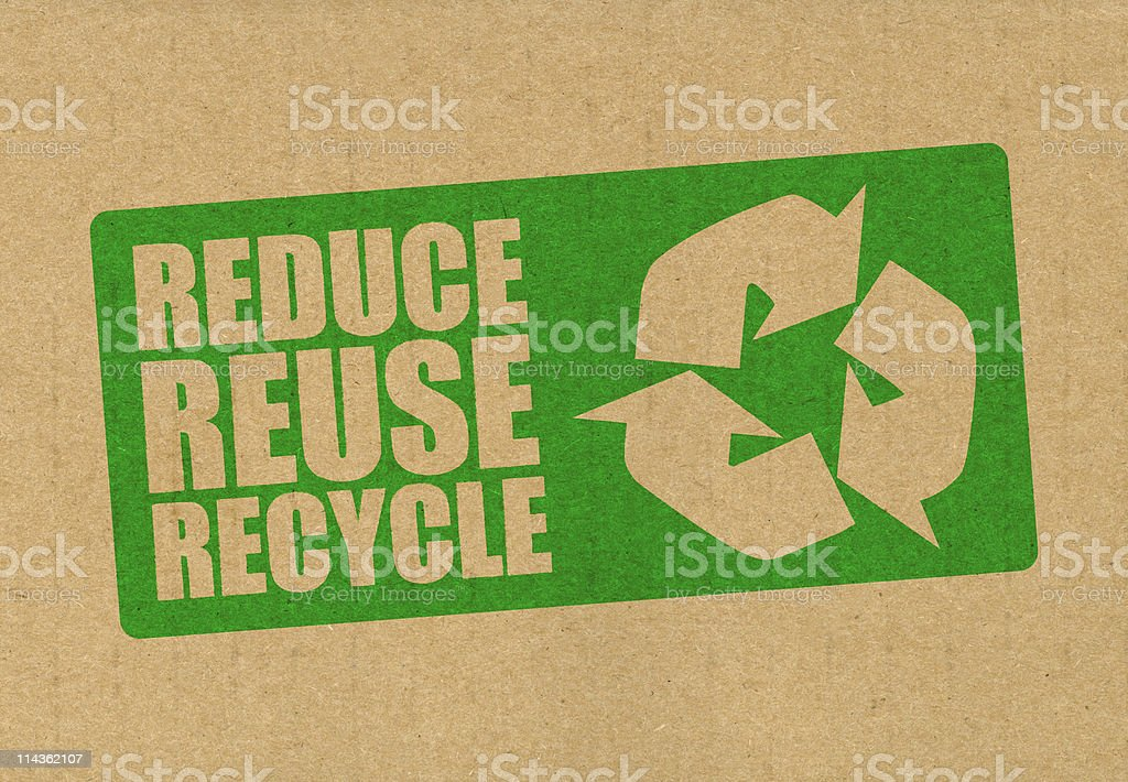 Reduce recycle reuse stock photo